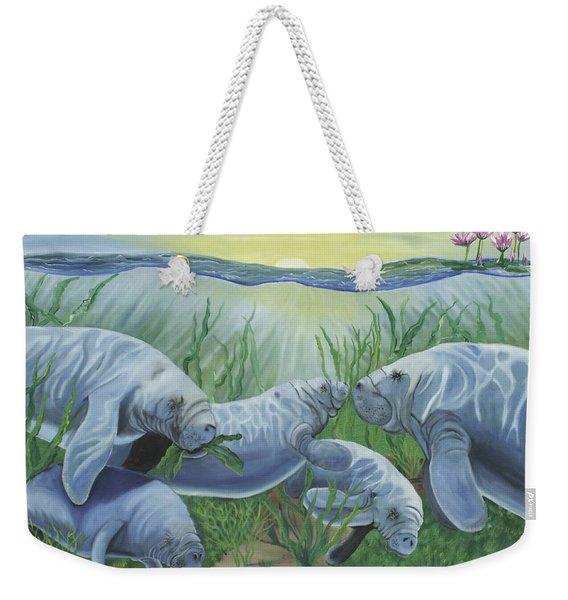 Manatee Swim Weekender Tote Bag