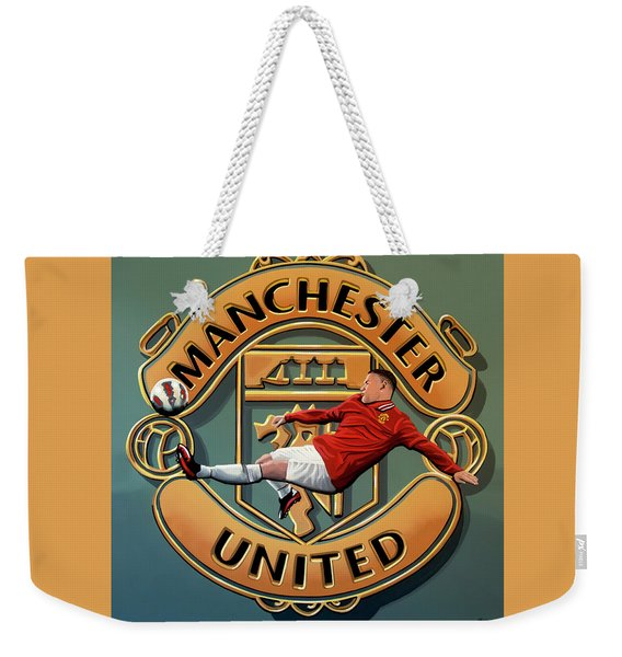 Manchester United Painting Weekender Tote Bag