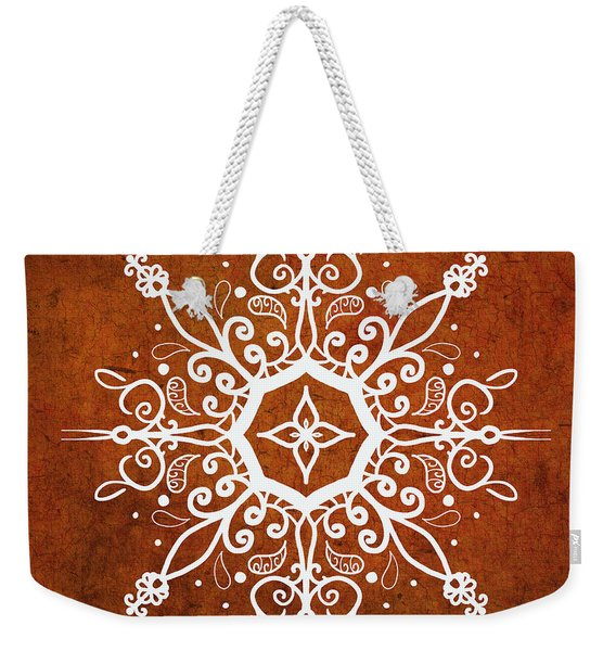 Mandala Art Earth Tone Weekender Tote Bag