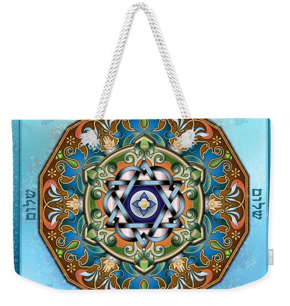 Mandala Shalom Weekender Tote Bag