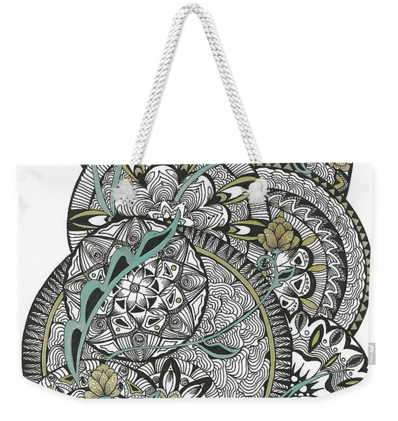 Mandalas With Gold Flowers Weekender Tote Bag