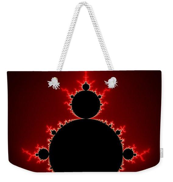 Mandelbrot Set Black And Red Square Format Weekender Tote Bag
