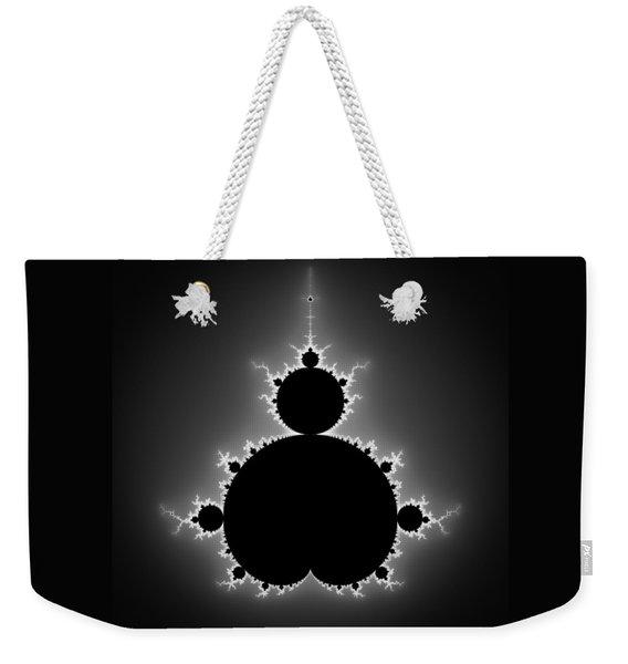 Mandelbrot Set Black And White Fractal Art Weekender Tote Bag