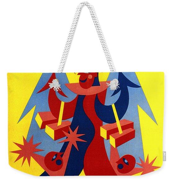 Mandorlato Vido - Lendinara, Rovigo - Italian Futurism - Vintage Travel Poster - Fortunato Depero Weekender Tote Bag