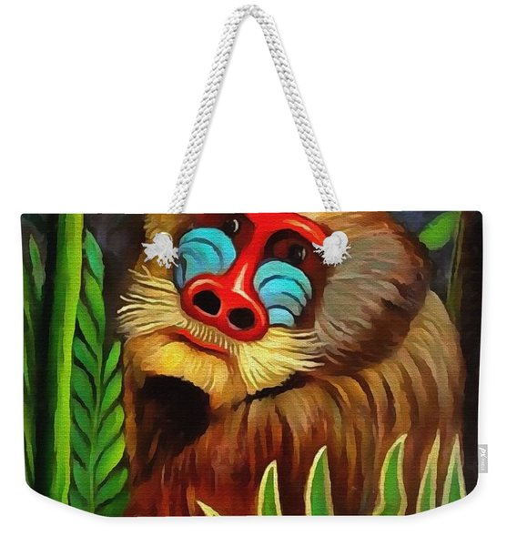 Mandrill In The Jungle Weekender Tote Bag