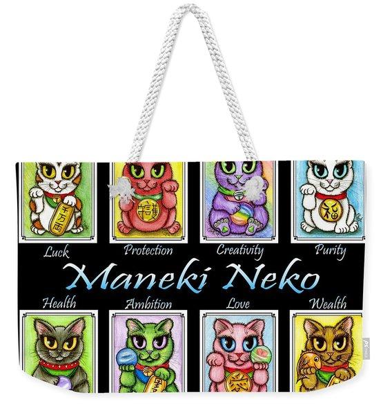 Maneki Neko Luck Cats Weekender Tote Bag