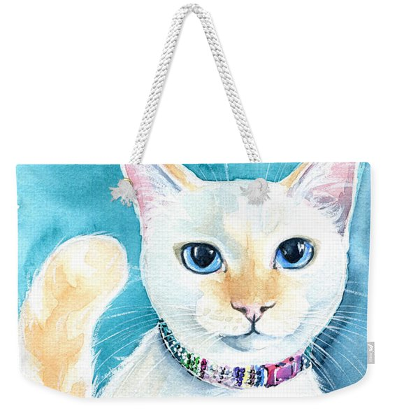 Mango - Flame Point Siamese Cat Painting Weekender Tote Bag