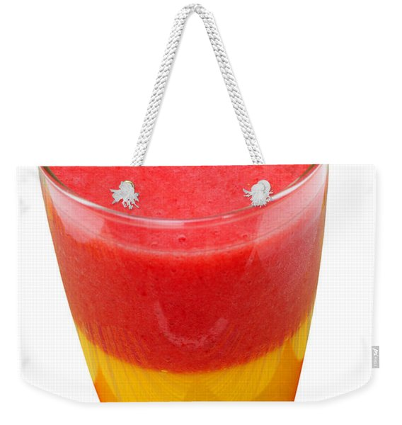 Mango Strawberry Smoothie Weekender Tote Bag