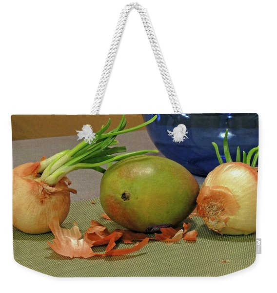 Mango With Two Onions Weekender Tote Bag