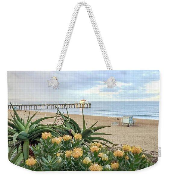 Manhattan Beach View Weekender Tote Bag