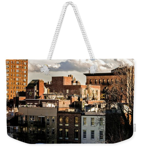 Manhattan From The Whitney Weekender Tote Bag