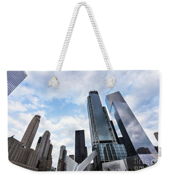Manhattan In New York City Weekender Tote Bag