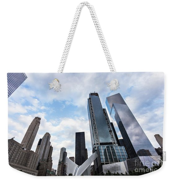Manhattan In New York City Weekender Tote Bag
