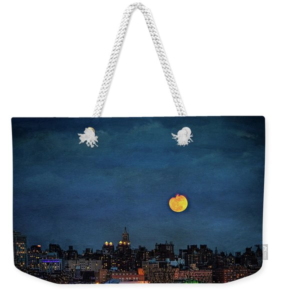Manhattan Moonrise Weekender Tote Bag