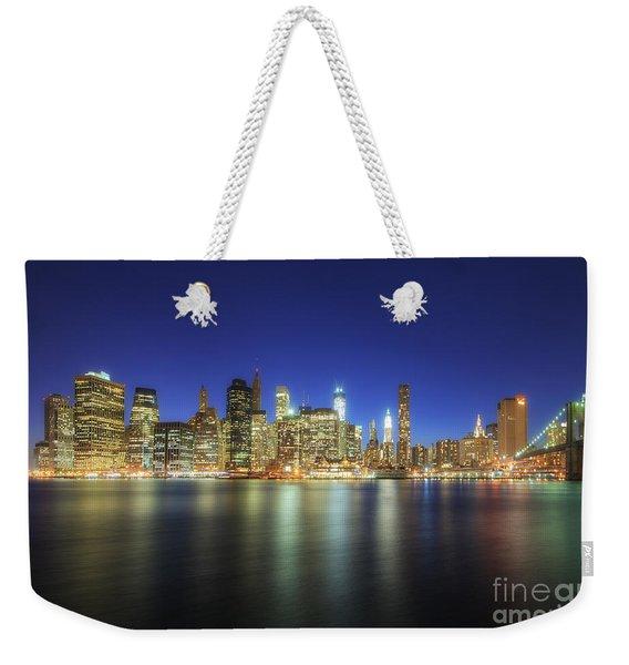 Manhattan Nite Lites Nyc Weekender Tote Bag