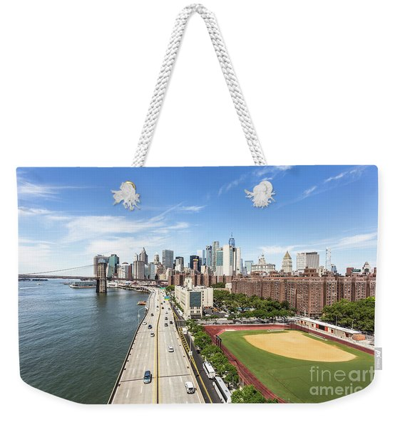 Manhattan On A Sunny Day Weekender Tote Bag