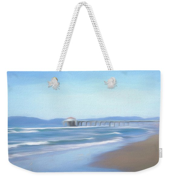 Weekender Tote Bag featuring the photograph Manhattan Pier Art by Michael Hope