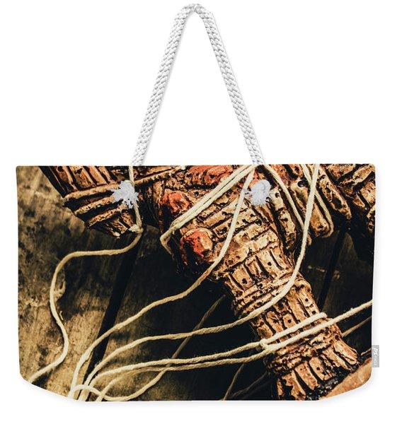 Manipulating The Trojans  Weekender Tote Bag