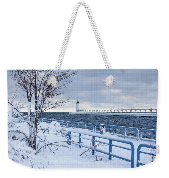 Manistee Pierhead Light-5 Weekender Tote Bag