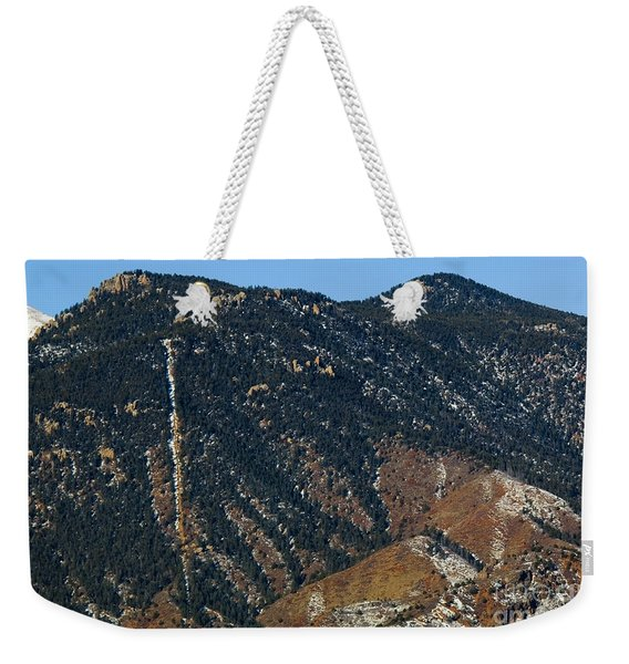 Manitou Incline Photographed From Red Rock Canyon Weekender Tote Bag