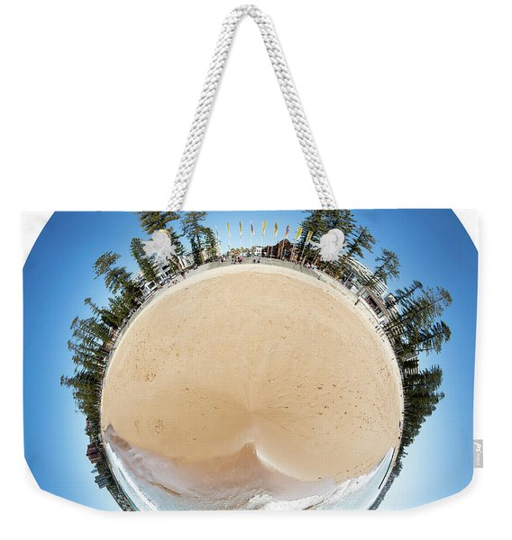 Manly Beach Tiny Planet Weekender Tote Bag
