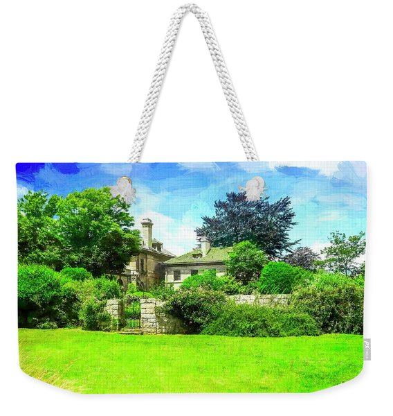 Mansion And Gardens At Harkness Park. Weekender Tote Bag