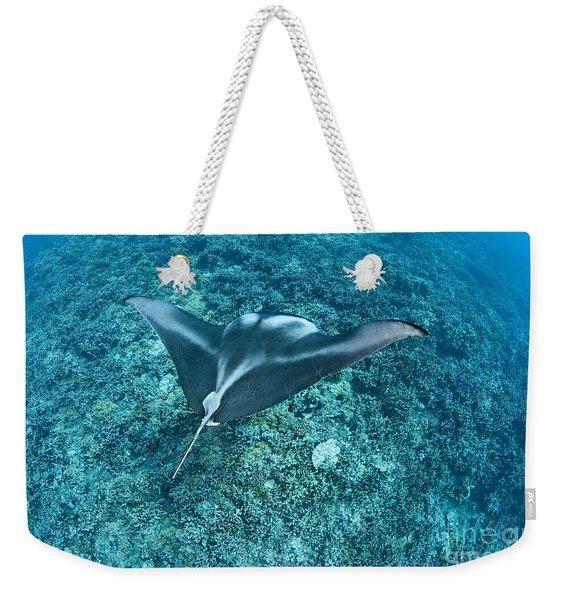Manta Over Reef Weekender Tote Bag