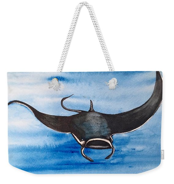 Manta Ray Weekender Tote Bag