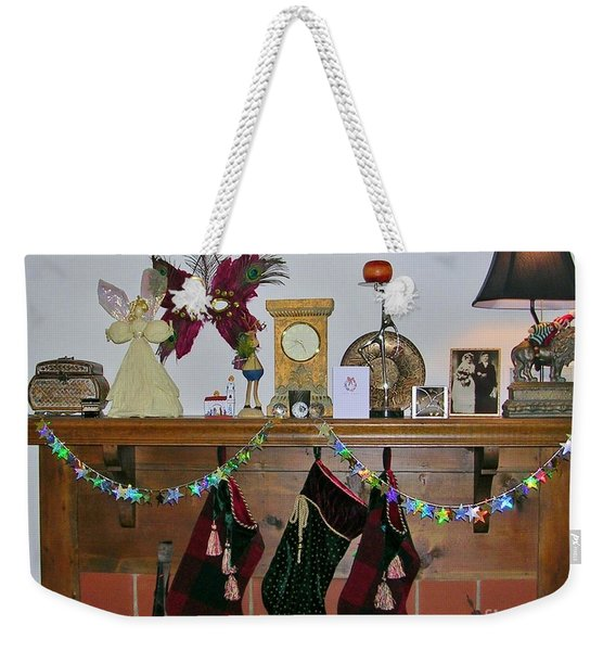 Mantel With Mask Weekender Tote Bag