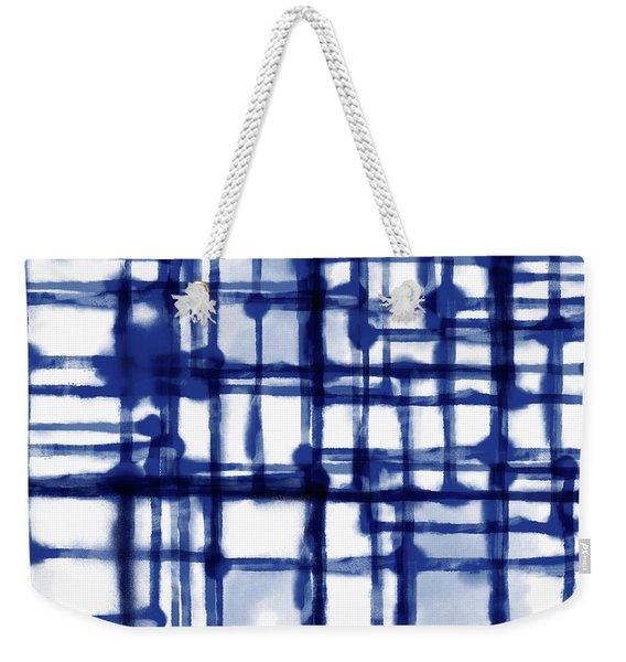 Mantra In Blue- Art By Linda Woods Weekender Tote Bag