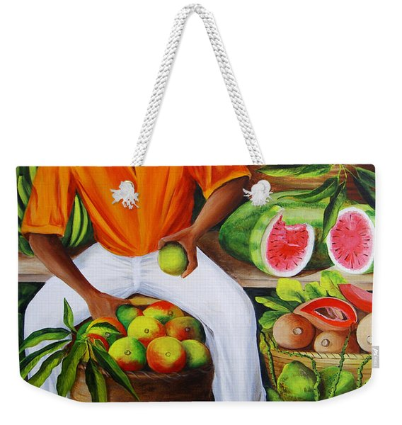 Manuel The Caribbean Fruit Vendor  Weekender Tote Bag