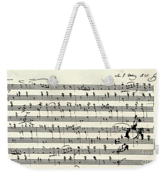 Manuscript Score For A Waltz By Franz Schubert Weekender Tote Bag