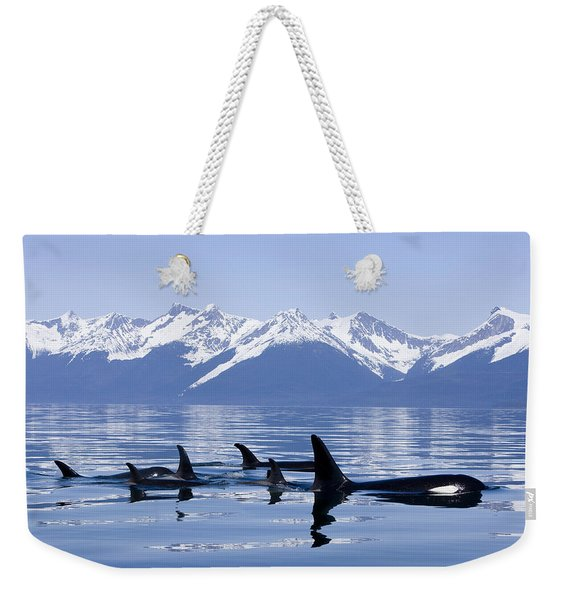 Many Orca Whales Weekender Tote Bag