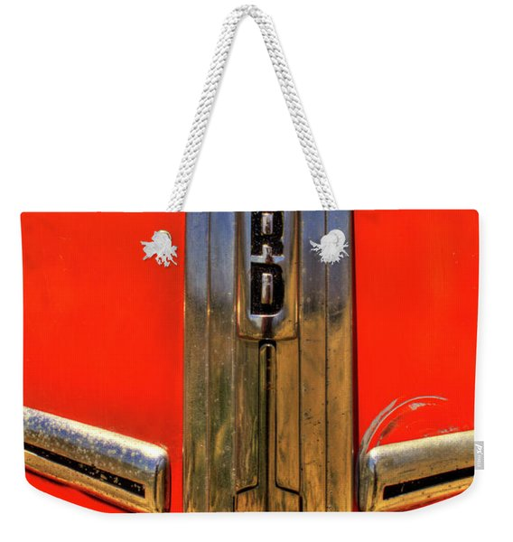 Manzanar Fire Truck Hood And Grill Detail Weekender Tote Bag