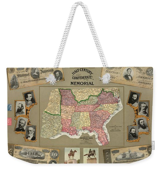 Map: Confederate States Weekender Tote Bag