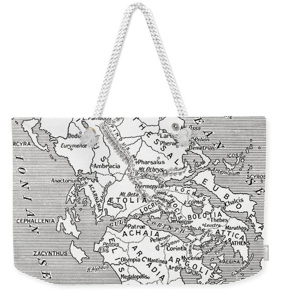 Map Of Ancient Greece Weekender Tote Bag