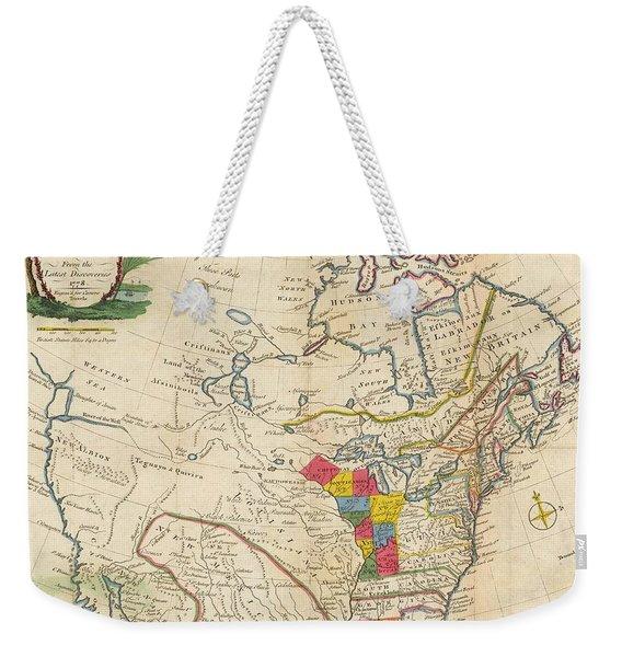 Map Of Colonial North America  Weekender Tote Bag