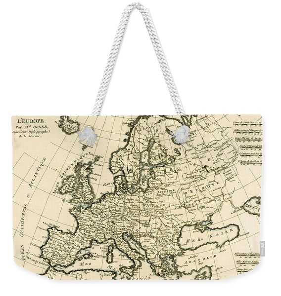 Map Of Europe Weekender Tote Bag