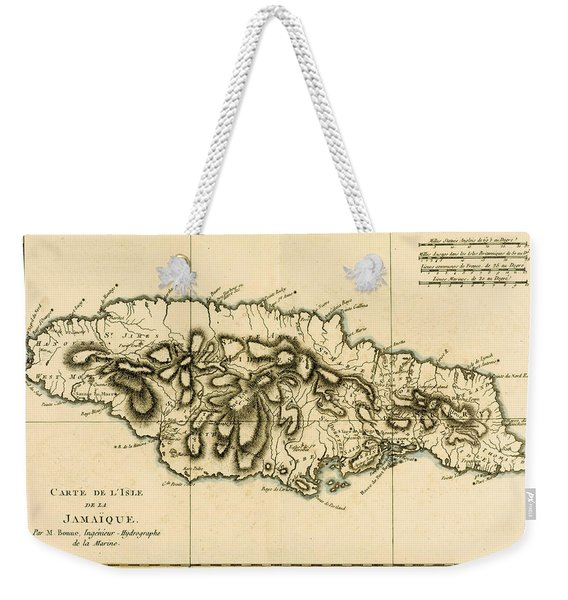 Map Of Jamaica Weekender Tote Bag