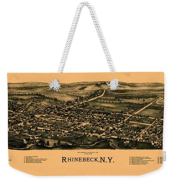 Map Of Rhinebeck 1890 Weekender Tote Bag