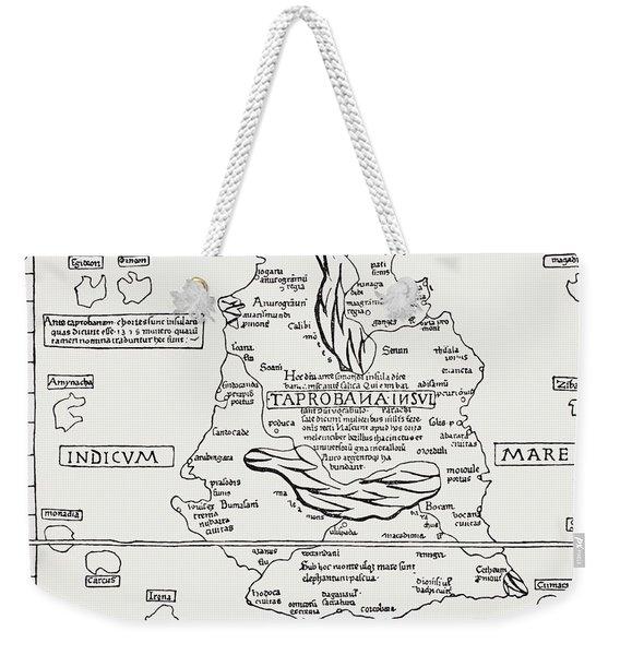 Map Of Taprobana Island. Reduced Weekender Tote Bag