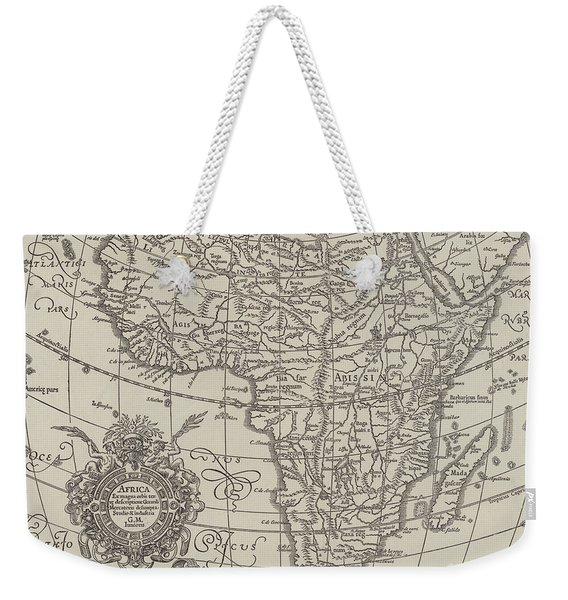 Map Of The Continent Of Africa Nearly Three Hundred Years Old Weekender Tote Bag
