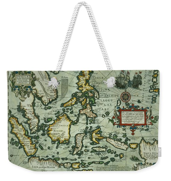 Map Of The East Indies Weekender Tote Bag