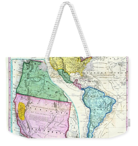 Map Of The Gold Regions Of California Weekender Tote Bag