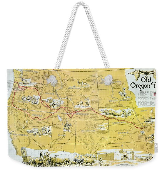 Map Of The Old Oregon Trail Weekender Tote Bag