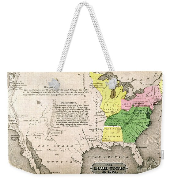 Map Of The United States Weekender Tote Bag