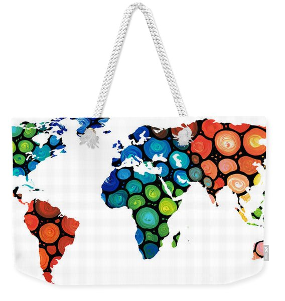 Map Of The World 1 -colorful Abstract Art Weekender Tote Bag