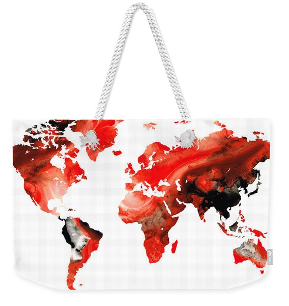 Map Of The World 10 -colorful Abstract Art Weekender Tote Bag