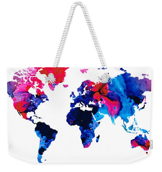 Map Of The World 9 -colorful Abstract Art Weekender Tote Bag