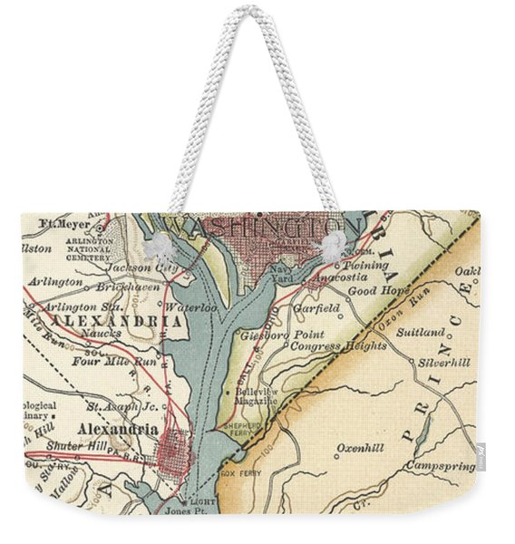 Map Of Washington, Dc, Circa 1900 Weekender Tote Bag